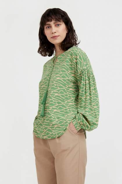 Женская блуза Finn Flare S21-14088, зеленый