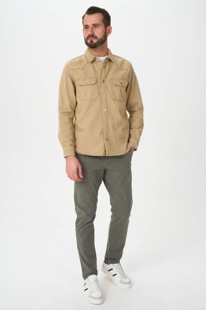 Джинсовая куртка мужская Tom Farr T4F M2404.14 бежевая 52 RU