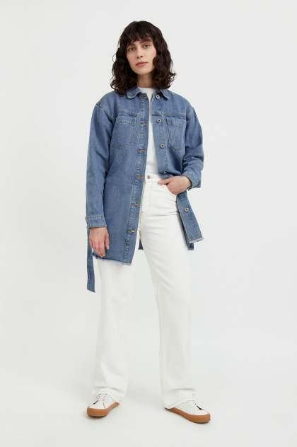 Джинсовая куртка женская Finn Flare S21-15017 голубая L