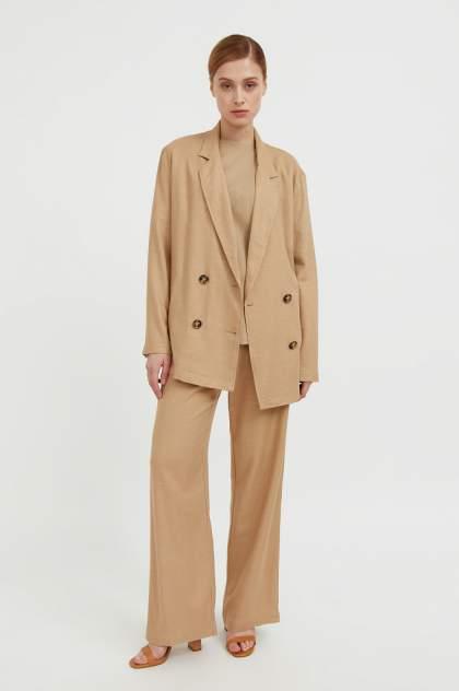 Женские брюки Finn Flare S21-11074, бежевый