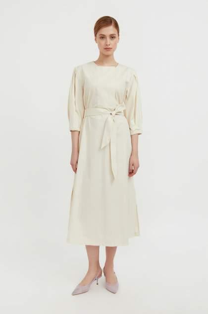 Женское платье Finn Flare S21-11052, бежевый