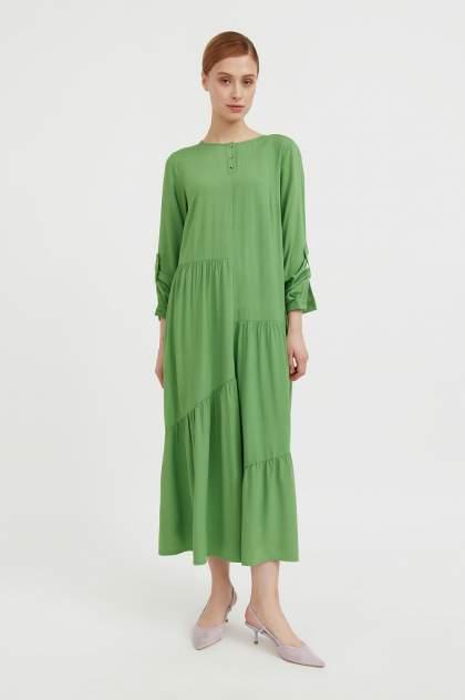 Женское платье Finn Flare S21-11078, зеленый
