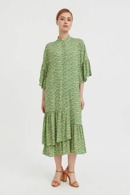 Женское платье Finn Flare S21-14090, зеленый