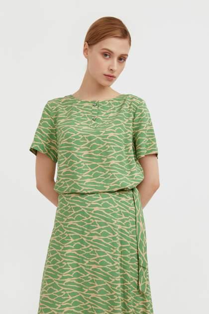 Женская блуза Finn Flare S21-14075, зеленый