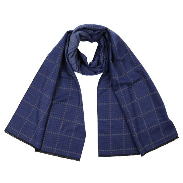Шарф мужской FABRETTI UWR1165 синий, 45х190 см