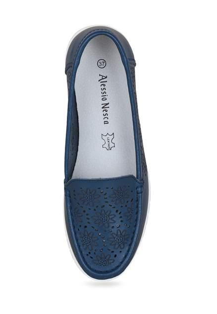 Мокасины женские Alessio Nesca ADL21SS-096 синие 36 RU