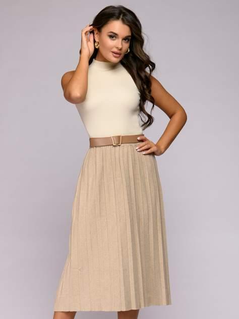 Женская юбка 1001dress 0122010-30082BG, бежевый