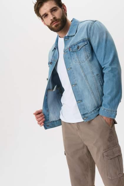 Джинсовая куртка мужская F5 6424 голубая 48