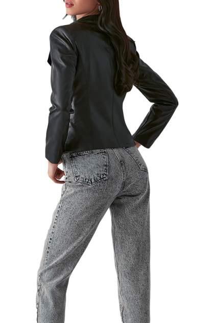 Кожаная куртка женская LOVE REPUBLIC 357502105 черная 40