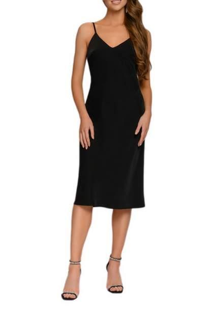 Платье-комбинация женское D&M by 1001DRESS DM01846BK черное XL