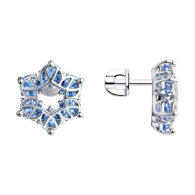 Серьги женские из серебра SOKOLOV 94023925, фианит