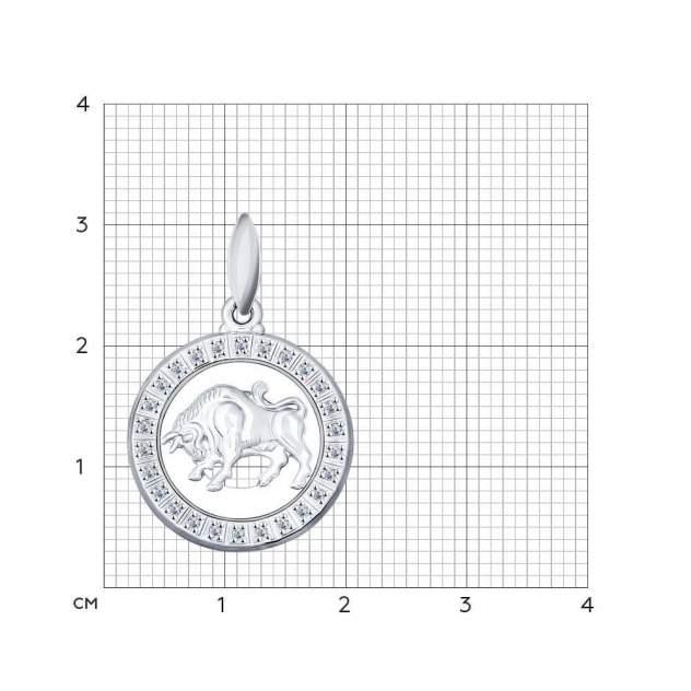 Подвеска «Знак зодиака Телец» SOKOLOV из серебра 94031384