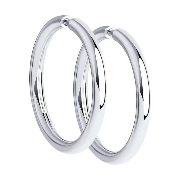 Серьги женские из серебра SOKOLOV 94140041, без вставки
