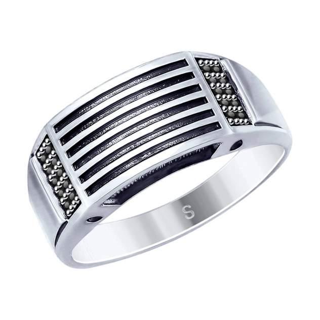 Кольцо SOKOLOV из чернёного серебра с фианитами 95010122 19,5