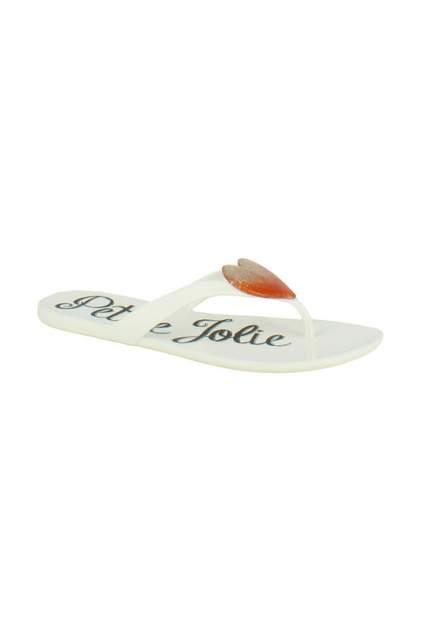 Шлепанцы женские Petite Jolie 49413 белые 37 RU
