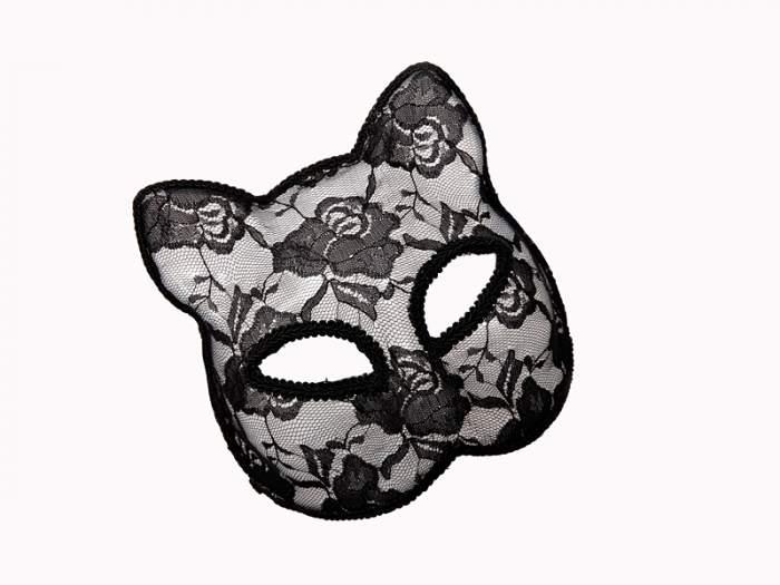 Маска гламурная кошка цв. черный АРТЭ 816