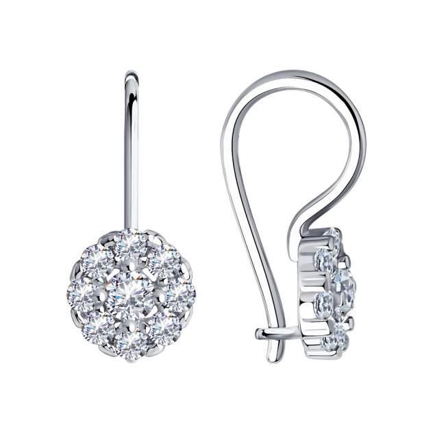 Серьги женские из серебра Diamant 94-120-00677-1, фианит