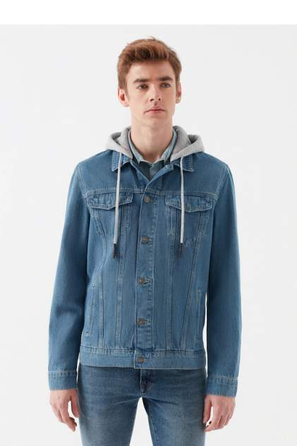 Джинсовая куртка мужская Mavi 167929340 синяя S