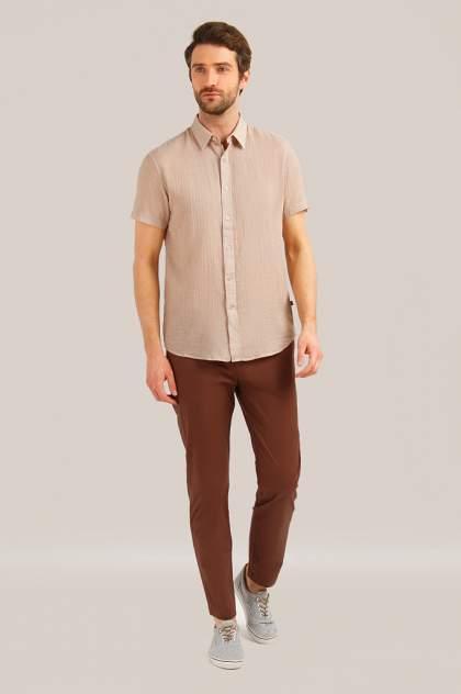 Рубашка мужская Finn-Flare S19-24017 бежевая 3XL