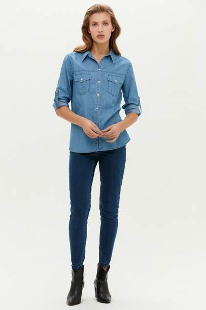 Женская джинсовая рубашка LOVE REPUBLIC 1151423344, синий