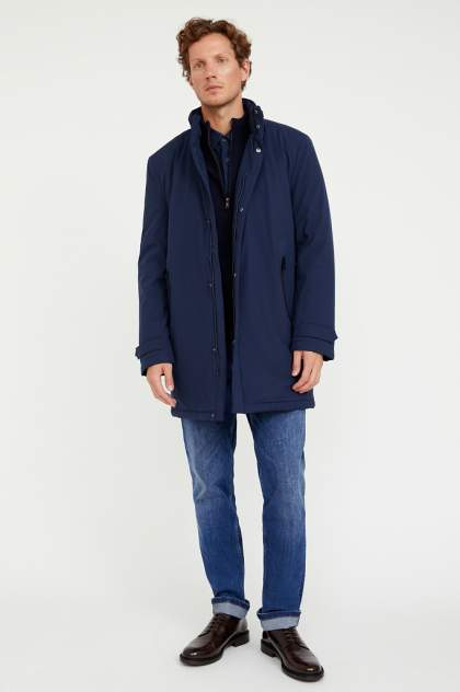 Пальто мужское Finn Flare A20-21007 синее 56