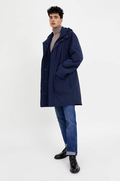 Пальто мужское Finn Flare A20-23009 синее 56