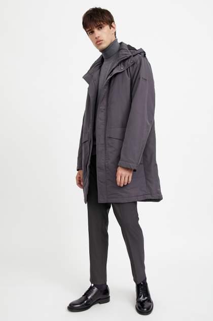 Пальто мужское Finn Flare A20-23009 серое 56