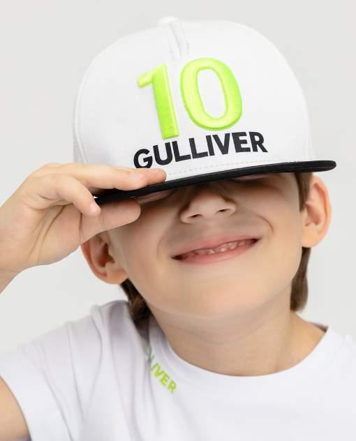 Кепка детская Gulliver, цв. белый р-р 50