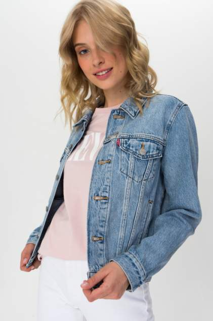 Джинсовая куртка женская Levi's 2994501000 голубая XS