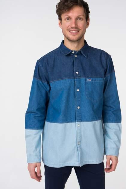 Джинсовая рубашка мужская Tommy Hilfiger DM0DM05447 синяя 54