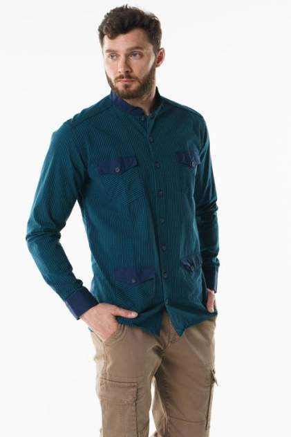 Рубашка мужская Sahera Rahmani 7170401, зеленый