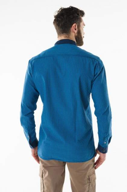 Рубашка мужская Sahera Rahmani 7210401 голубая 56