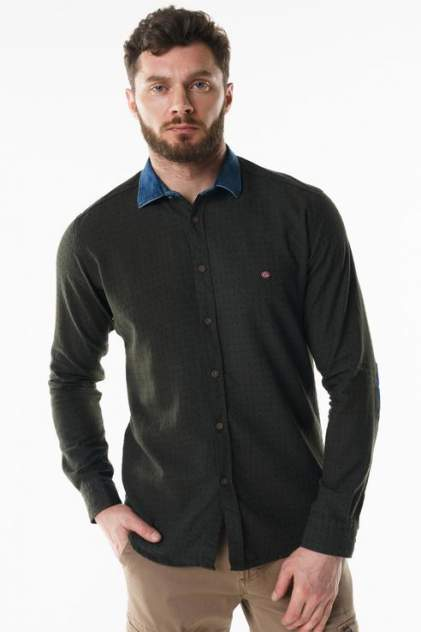 Рубашка мужская Sahera Rahmani 9011517-40 зеленая 56