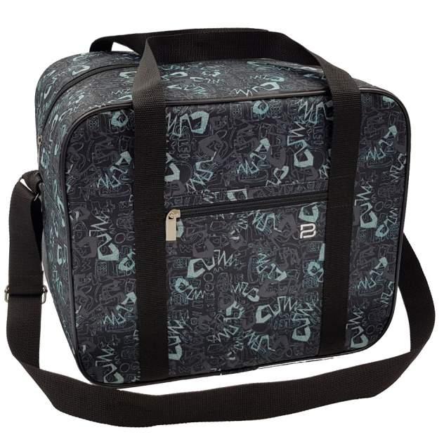 Дорожная сумка Pobedabags Граффити серо-голубая 36 x 30 x 27 см