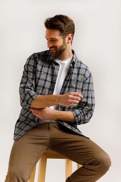 Рубашка мужская Finn Flare B20-22048, синий
