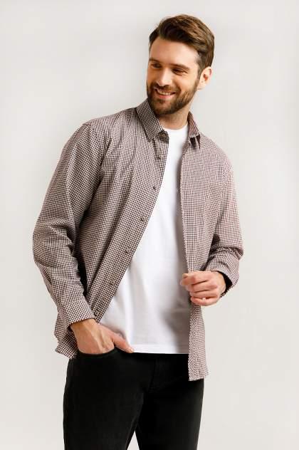 Рубашка мужская Finn Flare B20-22047, бордовый