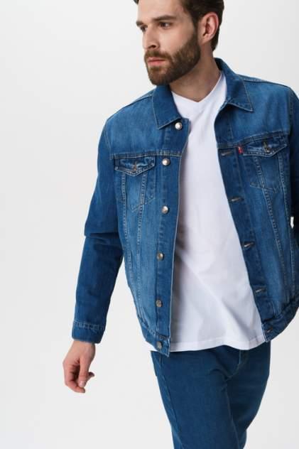 Джинсовая куртка мужская F5 06424/Blue denim синяя M