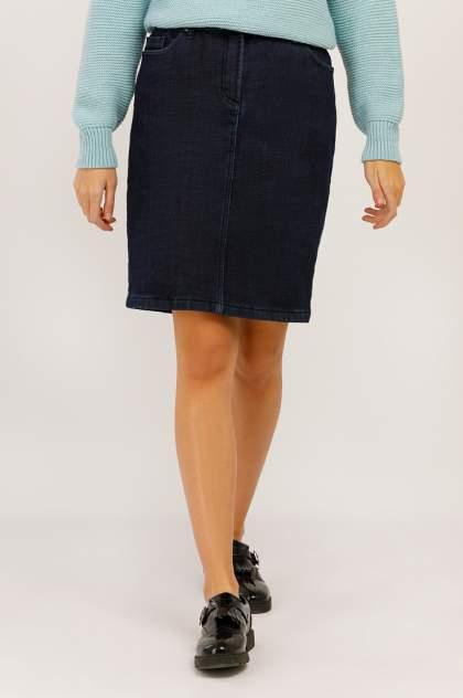 Юбка женская Finn-Flare W19-15002 синяя XL