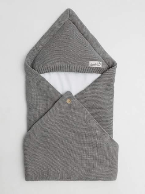 Конверт Amarobaby Pure Love Batic вязаный утепленный на выписку, серый, 85см.