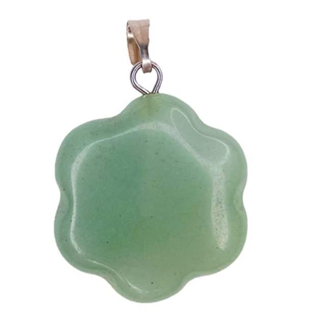 Кулон World of Judaica каменный цветок WOJ-NECK-29 светло-зелёный
