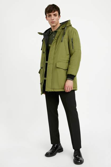 Полупальто мужское Finn Flare A20-42010 зеленое 52