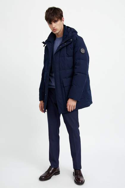 Полупальто мужское Finn Flare A20-42013 синее 54