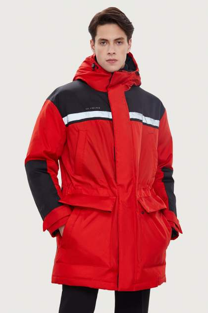 Пальто мужское Finn Flare W20-61002 красное 54