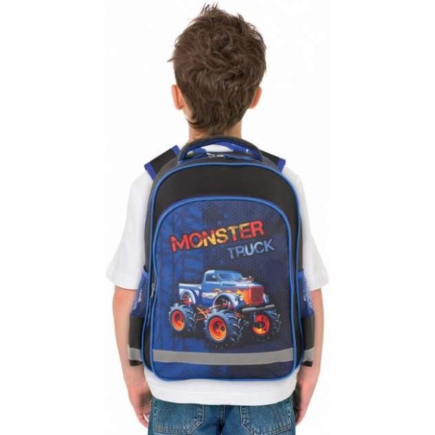 Рюкзак детский Пифагор SCHOOL для начальной школы MONSTER TRUCK