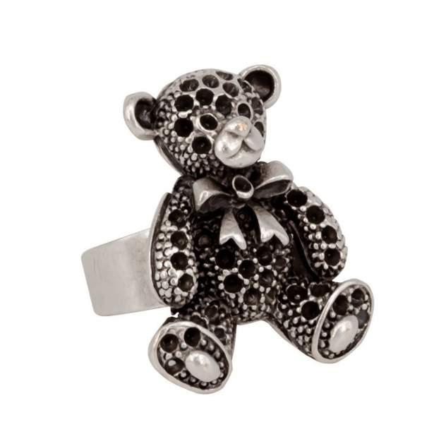 Кольцо бижутерное Медведь OTOKODESIGN 55019 серебристое р.OS