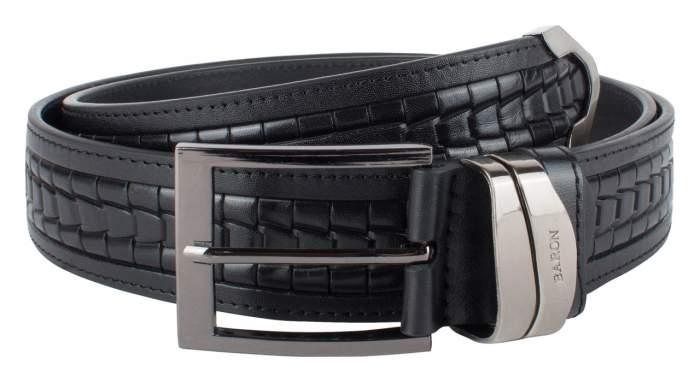 Ремень мужской Baron 10-042-40 черный 115-125 см