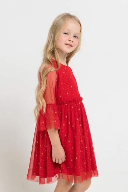 Платье Crockid для девочек цв. красный р-р. 92