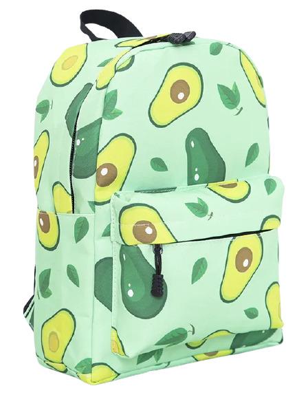Рюкзак школьный Авокадо, зеленый RUK-1