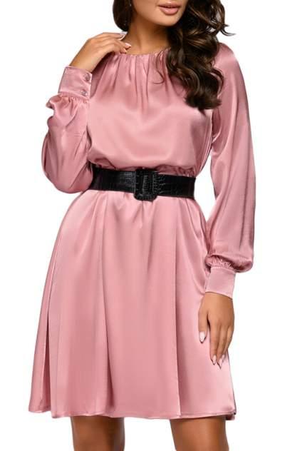 Повседневное платье женское D&M by 1001DRESS 0112001-01812 розовое L