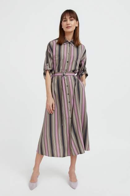 Женское платье Finn Flare S21-14078, коричневый